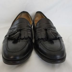Johnston & Murphy Black Tassel Loafer Shoes